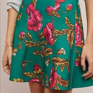 NWOT Anthropologie Hibiscus Skater Skirt US8/UK12